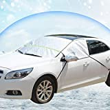 Joylora Windschutzscheibenabdeckung, Premium Frontscheibe Schnee Frost Sonnenschutz Abdeckung Eisschutzfolie für Winter Sommer, Extra Groß
