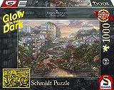 Schmidt Spiele Puzzle 59497 Thomas Kinkade, San Francisco, Lombard Street, Glow in The Dark, 1000 Teile Puzzle, bunt