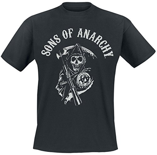 Sons-Of-Anarchy-Reaper-Logo-Camiseta-Negro