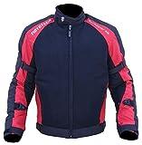 MOTOTECH Scrambler AIR Motorcycle Jacket - Combo Colors - Orange/Flo Green/Grey (Large, Black + Red)