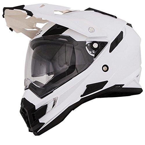 O'Neal Sierra Snow Weiß Motorrad Helm Enduro Moto Cross Dual Sport, 0816-20, Größe Small (55 - 56 cm) - 2