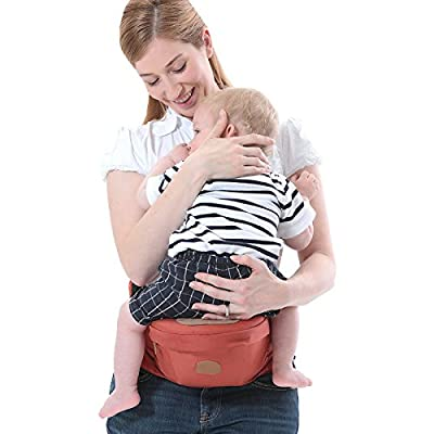 ThreeH Baby Hip Carrier Infant Waist Stool Seat Outdoor Toddler Support BC10,Red