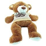 Sweety-Toys 5383 XXL Teddy – 120cm, mit Kapuzen T-Shirt, Premium Qualität - 3