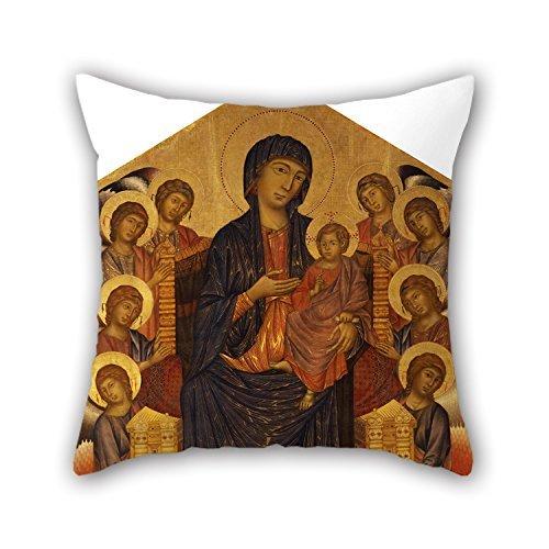 beautifulseason Kissenbezüge von Ölgemälde Cimabue–maestã Di Santa Trinita, für Liegestuhl, Kids Jungen, Play Zimmer, Erwachsene, Bar, Sohn 40,6x 40,6cm/40von 40cm (je Seite)