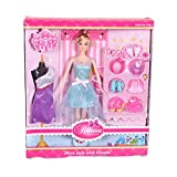 #8: Smartcraft Rebecca Doll Set with Costumes , Shoes and accessories ,Fashion forward Doll Set for girls