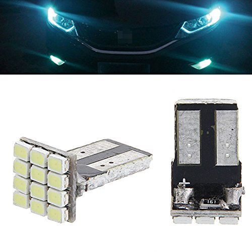 AST Works 2 X T10 12 SMD Car LED Light Width Lamp License Plate Tail Bulb 2825 192 194 168