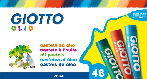 Giotto 2932 00 - Olio Öl-Pastellkreiden, 11 mm, Pappetui, 48 Farben sortiert