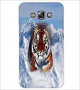 PrintDhaba Tiger D-3699 Back Case Cover for SAMSUNG GALAXY A7 (Multi-Coloured)