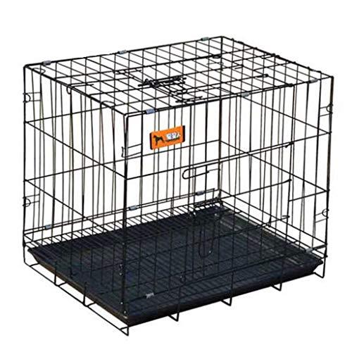 Hundehütte XL-Hundekiste mit Teiler, Schwarzes faltbares tragbares Haustier-Katzenhaus-Laufstall mit Tablett, Indoor Outdoor Kennel (Größe: XL 100 * 60 * 70CM) (Größe : XL 100 * 60 * 70CM)