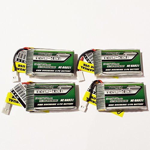 4x Turnigy NANO-TECH 1S 750mAh 35C-70C Lipo Nine Eagles Solo Pro 180 NE-BA931
