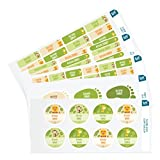 Ludilabel - Pacchetto di etichette con nome adesive e stirabili personalizzate per l'asilo - Giungla