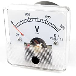 Dh - 50 Quadratische Volt Spannung Analog Panel Meter Voltmeter Ac 0-300 V