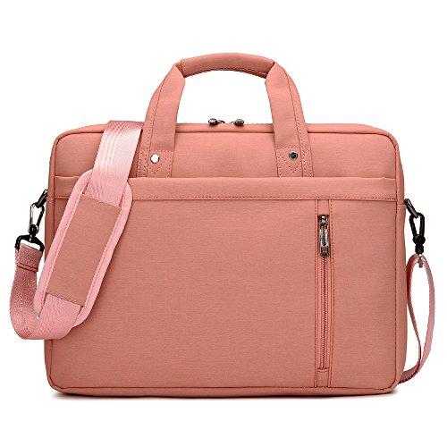 HuntGold 17 Zoll Laptop Notebook Tablet Schulter Tasche Messenger Handtasche Rosa