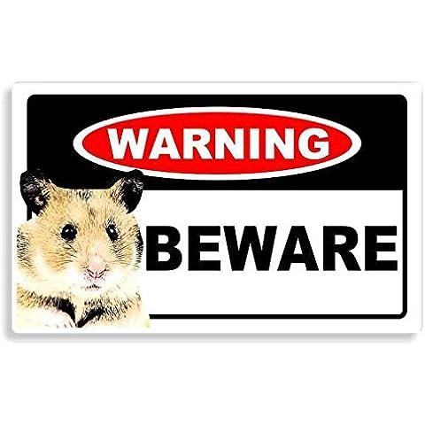 Hamster - Beware Sticker - Cane Auto