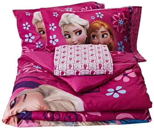 Disney Frozen Nordic Florals Tröster Set mit Spannbetttuch, Full (Full Disney Frozen Tröster Set)