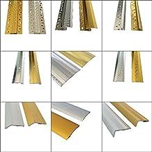 SWEET HOUSE Wood, Carpet, Vinyl, Tile & Laminate Flooring Trim Edging Metal Gold / Silver