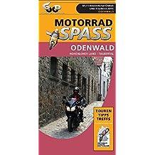 Odenwald - Hohenloher Land - Taubertal: 1:290.000 (Motorradspass)