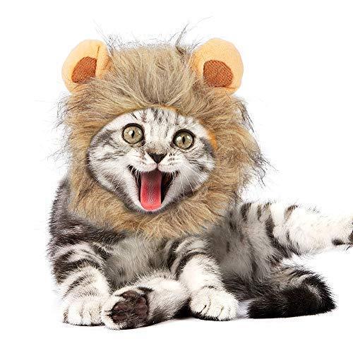 JDYW Disfraz de Mascota Lion Mane Peluca para...