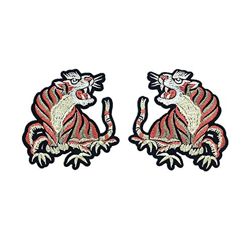 Kreative Einfach Kostüm Paar - Fansi 1 Paar einfache Abziehbilder Pailletten Kreative Tigerform bestickte Applikation Handarbeit Baby Kinder Kleidung DIY Kostüm Zubehör