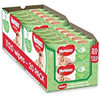 Huggies Natural Care Baby Wipes - 20 Packs (1120 Wipes Total)