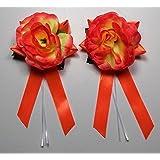 Autoschmuck Antennenschleifen Autoschleifen Hochzeit, Orange (3,95€ Stk)