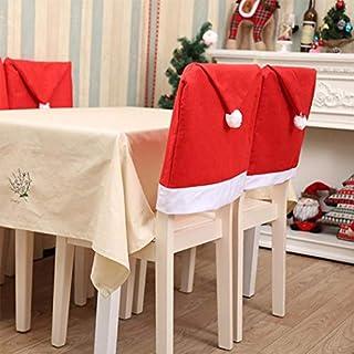 YENJOS Oplon 4pcs Cartoon Weihnachten Hut Form Stuhlabdeckung Home Party Dekoration Hussen Hussen