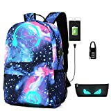 Schultasche, NetEraEU Taschen für Kinder Schultasche Leisure Rucksack Luminous Rucksack mit USB Charger Port, Student Backpack fit 15,6-inch Laptop