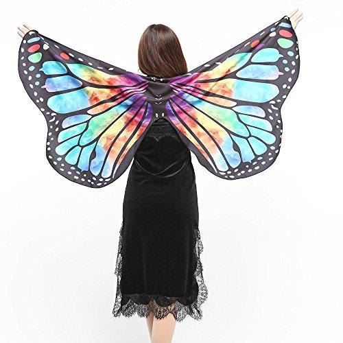 Kostüm Jack Selbstgemacht Sparrow - Sllowwa Damen Schmetterling Kostüm Schmetterling Schal Flügel Tuch für Party Weihnachten Kostüm Cosplay Karneval Fasching(Mehrfarbig)