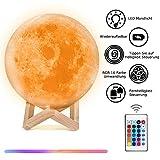 15cm LED Mond Lampe 3D-Druck Mond Nachtlicht Nachttischlampe Stimmungslicht Kinderzimmerlampe