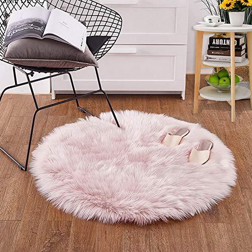unstpelz Wolle Wohnzimmer Sofa Teppich Plüsch Teppiche Schlafzimmer Matratze Weihnachten Tür Fenster Runde Teppiche Teppiche ()