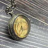 ERDING Taschenuhr,Taschenuhr Unisex Vintage römische Ziffern Display Quarzuhr Uhr mit Kette Antik Anhänger Halskette Geschenke