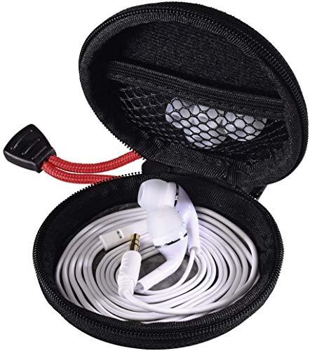 Hama Kopfhörer Tasche für In Ear Ohrhörer (robustes Hardcase, Netz-Innentasche, Karabinerhaken, Innenmaß 7 x 7 x 2,4 cm, Ohrstöpsel Schutztasche) schwarz thumbnail