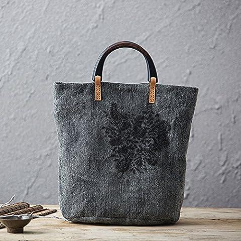 National wind mobile leisure baodan shoulder handbags women embroiders canvas