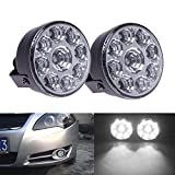 Best Fog Lights - AR 12V Round 9 LED White Car Daytime Review