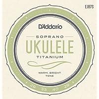 D'Addario EJ87S - Juego de cuerdas para ukelele soprano de titanio