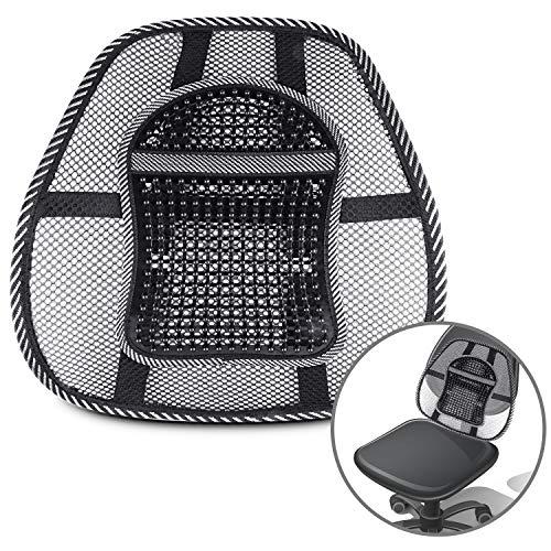 Lordosenstütze Mesh für Auto und Büro, Lendenwirbelstütze mit Massage-Knoten, Atmungsaktiv Rückenstütze für Bürostuhl