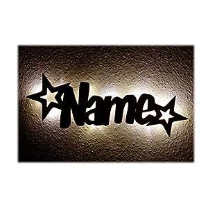 Schlummerlicht24 Led M/öbel Nacht-Lichter Lampe Stern-Funkeln mit individuell-em Name-n Personalisiert-e Baby Geschenk-e zur Taufe Geburt Kommunion Kind-er Baby-s Junge-n M/ädchen