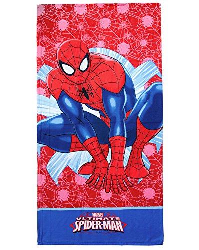 Telo mare microfibra spiderman 70x140 cm originale marvel piscina spiaggia bambini mod.telo mare spiderman (d)
