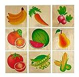 Hess Holzspielzeug 14927 - Memo aus Holz Obst und Gemüse, 32 Teile