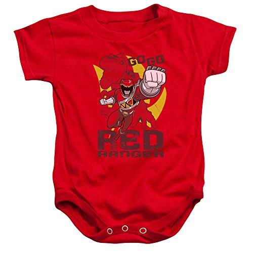 Power Rangers - - Toddler Go Red Onesie, 6 Months, Red