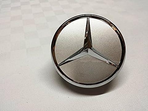 2x Original Mercedes Benz Radzierdeckel Kappe Deckel Nabendeckel Radnabenabdeckung Wheel Cap Radnabendeckel Zierdeckel silber / chrom Stern B66470202 / A2204000125 E-Klasse C-Klasse CL CLS SLK ML GLK A-Klasse B-Klasse W204 W212 W210 W221 W220 C209 W207 W246 Durchmesser: