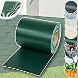 TecTake Rollo aislamiento aislante PVC 70m x 19cm verde + clips de sujeción
