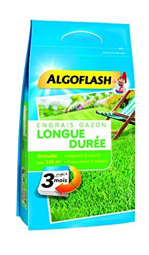ALGOFLASH Eng Gazon LD 3M 5, 75Kg Engrais Gazon Longue Durée 3 Mois 5, 75 Kg, Bleu, 26 x 12 x 58 cm