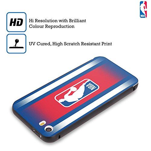 Ufficiale NBA Banner Logoman Nero Cover Contorno con Bumper in Alluminio per Apple iPhone 6 Plus / 6s Plus Gradiente Mezzotono