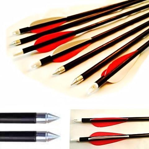 10 Hunting Arrow Hunter Nocks Fletched Arrows Fiberglass Target Practice Arrow 28