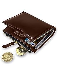 Expresstech @ RFID Cartera Anti-robo Cartera de cuero de la PU con soporte de tarjeta extraíble para Tarjeta de Crédito Carnet ID y Dinero, Marrón
