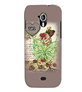 Fuson 3D Printed Girly Designer back case cover for Micromax Canvas HD A116 - D4615