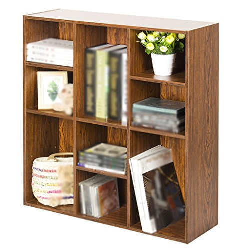 DFHHG® Librería Librería Estantería 73.6 (L) * 24 (W) * 80 (H) Cm Caja de Almacenamiento Rojo Profundo Cerezo Color Madera durable