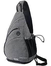 WATERFLY Sling Rucksack Sling Bag Schulterrucksack Umhängetasche Crossbag Kamerarucksack mit verstellbarem Schultergurt Perfekt für Outdoorsport, Wandern, Radfahren, Bergsteigen, Reisen