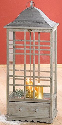 Guilde Lanterne au look antikstyle avec curseur sprosse fenêtre et, 102,5 x 40 cm